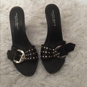 Size 8 Charles David high heel clogs